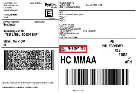 Guía de Envío 3 Fedex