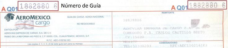 Guía de Envío 6 AeroMéxico Cargo