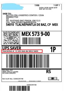 UPS Guía de rastreo