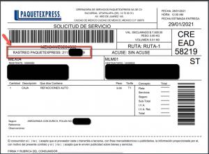 Rastreo Paquete Express Guía